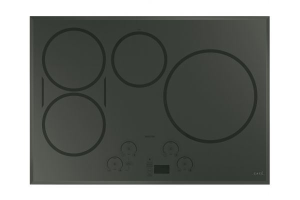 """Large image of Cafe 30"""" Flagstone Gray Built-In Touch Control Induction Cooktop - CHP95302MSS"""