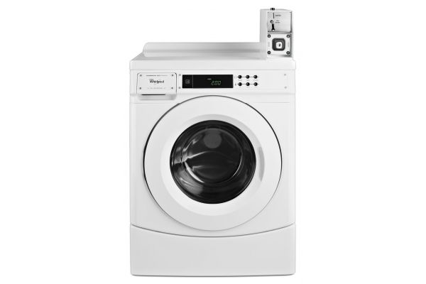 """Large image of Whirlpool 27"""" White Commercial High-Efficiency Front Load Washer - CHW9150GW"""