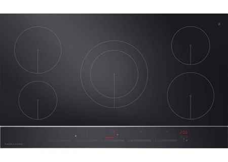 "Fisher & Paykel 36"" Ceramic Glass & Stainless Steel Trim Induction Cooktop - CI365DTB2_N"
