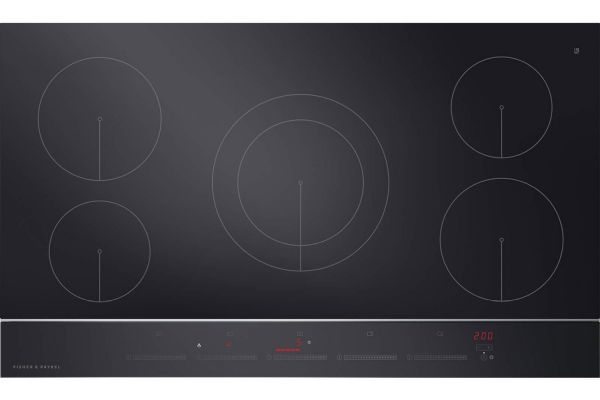 "Large image of Fisher & Paykel 36"" Ceramic Glass & Stainless Steel Trim Induction Cooktop - CI365DTB2N"