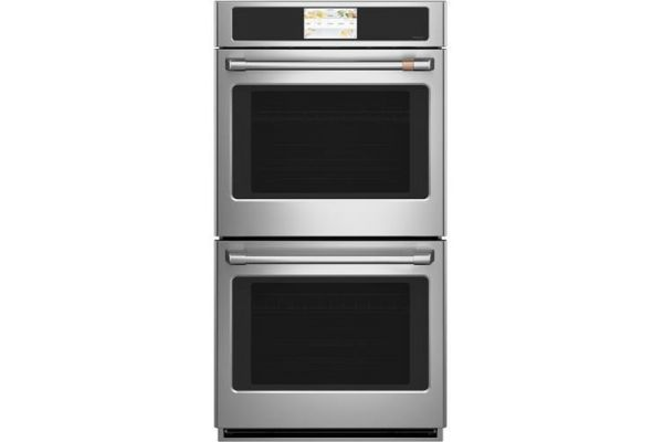 """Large image of Cafe 27"""" Stainless Steel Built-In Convection Double Wall Oven - CKD70DP2NS1"""