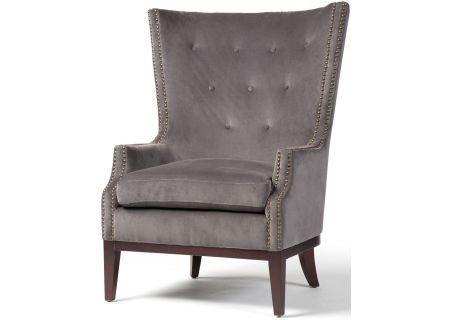 Four Hands Grey Velvet Lillian Occasional Chair - CKEN-49W-007