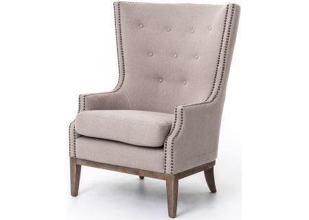 Four Hands Grey Chevron Lillian Occasional Chair - CKEN-49Z-223