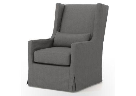 Four Hands Kensington Collection Finn Charcoal Swivel Wing Chair - CKEN-C2-381