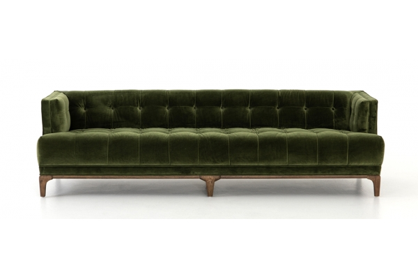 Large image of Four Hands Kensington Collection Dylan Sapphire Olive Sofa - CKEN-E1C-557
