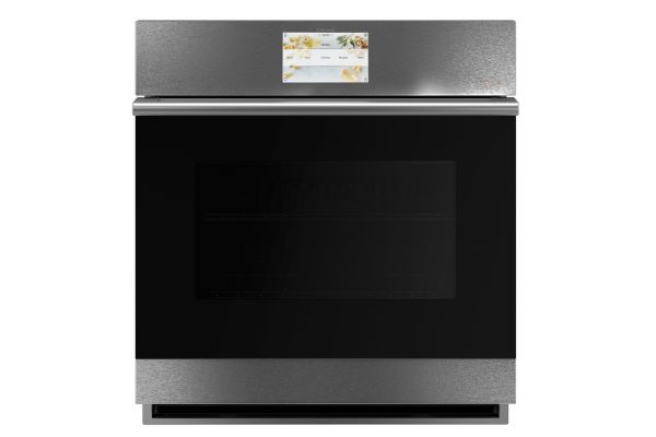 """Large image of Cafe Modern Glass 27"""" Platinum Built-In Single Electric Convection Wall Oven - CKS70DM2NS5"""