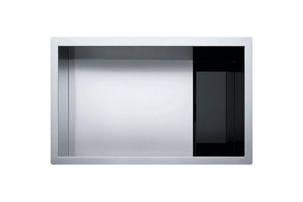 franke crystal stainless steel single bowl kitchen sink clv110 28