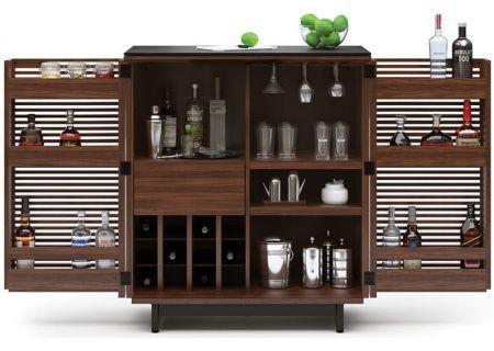 BDI Chocolate Walnut Corridor Bar Cabinet - CORRIDOR5620CWL