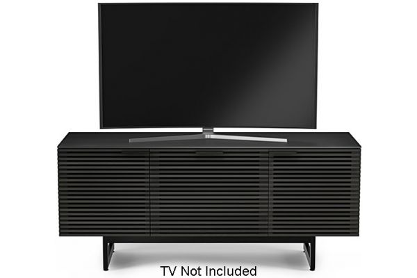 Large image of BDI CORRIDOR 8177 Charcoal Stained Ash TV Console - CORRIDOR8177CRL