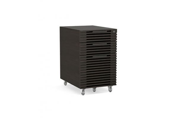 Large image of BDI Corridor 6507 Charcoal Stained Ash Mobile File Pedestal - 6507 CRL