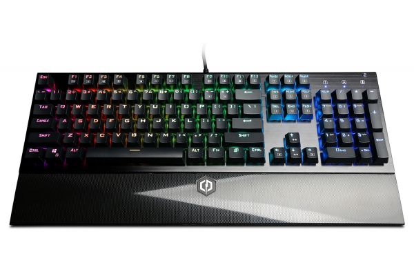 Large image of CyberPowerPC Skorpion K2 RGB Mechanical Gaming Keyboard With Kontact Blue (Linear) Mechanical Switches - CPSK302