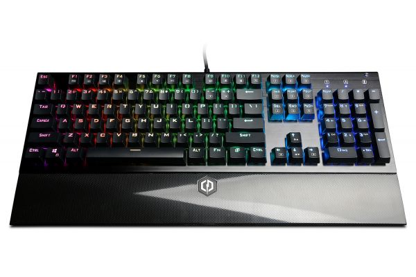 Large image of CyberPowerPC Skorpion K2 RGB Mechanical Gaming Keyboard With Kontact Red (Linear) Mechanical Switches - CPSK303