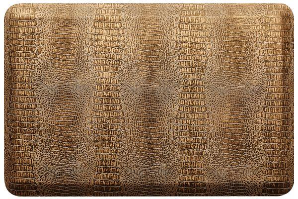 Large image of WellnessMats Croc Collection 3x2 Bronze Mat - CR32WMRBGBLK
