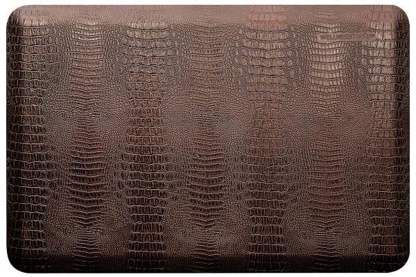 Large image of WellnessMats Croc Collection 3x2 Antique Dark Mat - CR32WMRDB