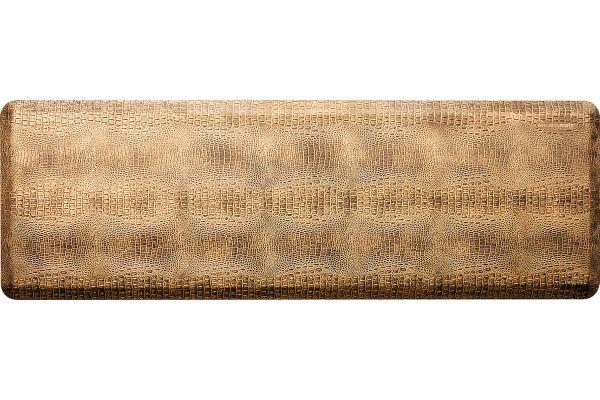 Large image of WellnessMats Croc Collection 6x2 Bronze Mat - CR62WMRBGBLK