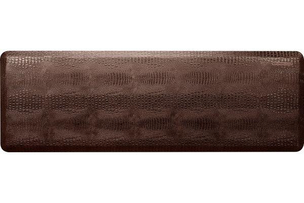 Large image of WellnessMats Croc Collection 6x2 Antique Dark Mat - CR62WMRDB