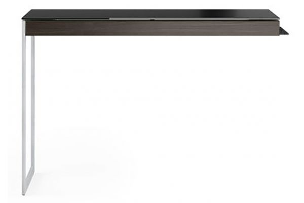 Large image of BDI Sequel 20 6112 Charcoal And Satin Nickel Desk Return - 6112 CRL/S