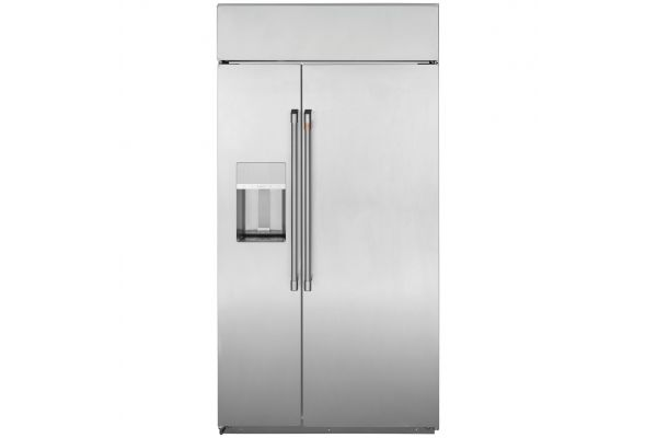 "Cafe 42"" Stainless Steel Smart Built-In Side-By-Side Refrigerator With Dispenser - CSB42YP2NS1"