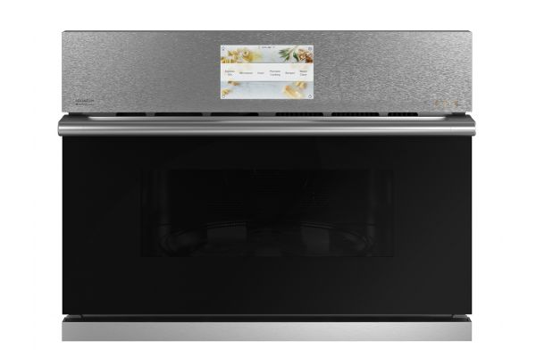 """Cafe 27"""" Platinum Built-In 5-In-1 With 120V Advantium Technology Single Wall Oven - CSB912M2NS5"""