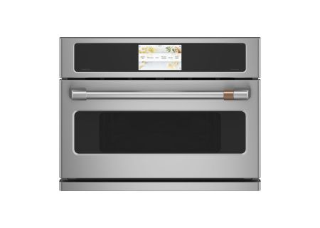 """Cafe 27"""" Stainless Steel Built-In Single Convection Wall Oven - CSB912P2NS1"""