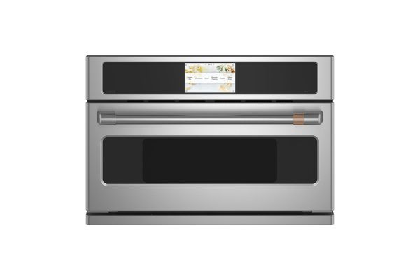 "Large image of Cafe 30"" Stainless Steel Built-In Single Convection Wall Oven - CSB913P2NS1"