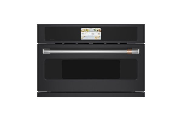 "Cafe 30"" Matte Black Built-In Single Convection Wall Oven - CSB913P3ND1"