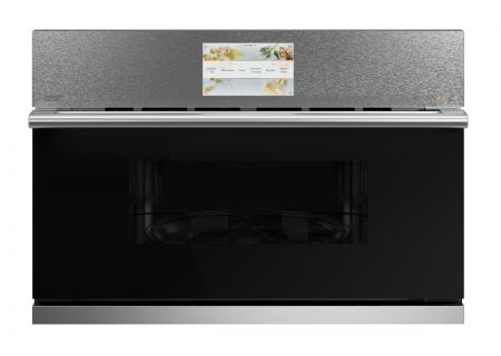 """Cafe 30"""" Platinum Built-In 5-In-1 With 240V Advantium Technology Single Wall Oven - CSB923M2NS5"""
