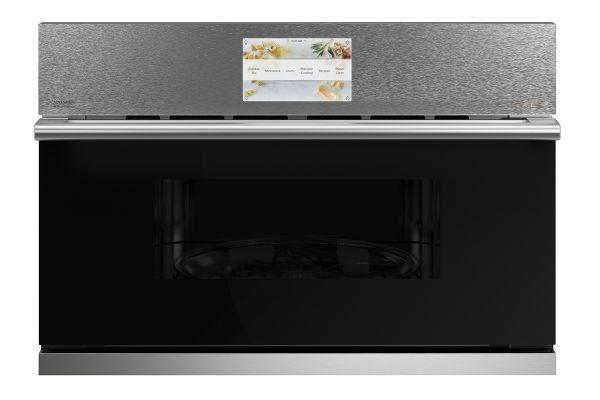 """Large image of Cafe 30"""" Platinum Built-In 5-In-1 With 240V Advantium Technology Single Wall Oven - CSB923M2NS5"""