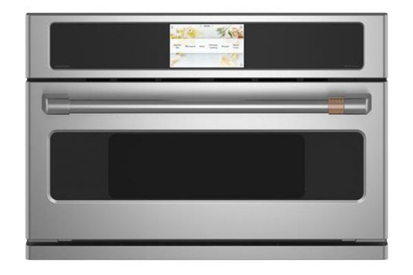 "Cafe 30"" Stainless Steel Built-In 5-In-1 Advantium Technology Single Wall Oven - CSB923P2NS1"