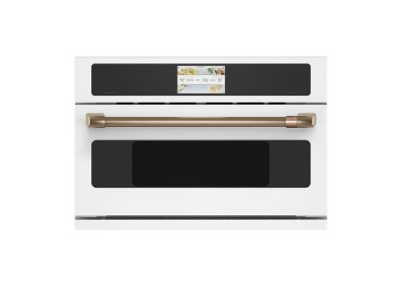 "Cafe 30"" Matte White Built-In Single Convection Wall Oven - CSB923P4NW2"