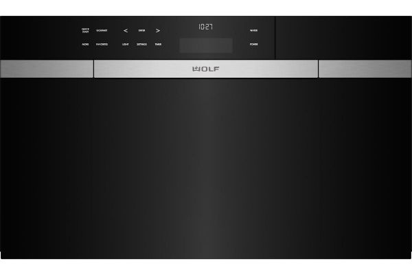 """Wolf 30"""" M Series Black Contemporary Convection Steam Oven - CSO30CM/B"""