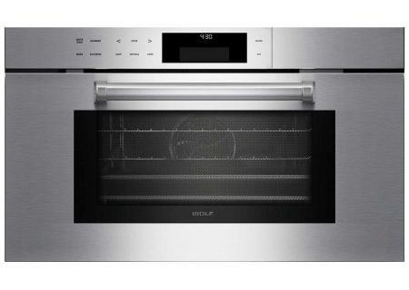 "Wolf 30"" M Built-In Series Stainless Steel Professional Convection Steam Oven  - CSO30PM/S/PH"