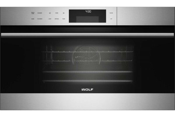 """Large image of Wolf 30"""" E Series Built-In Stainless Steel Transitional Convection Steam Oven  - CSO30TE/S/TH"""
