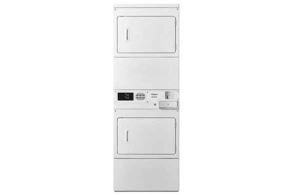 Whirlpool Commercial White Stacked Electric Dryers With Coin-Drop - CSP2940HQ