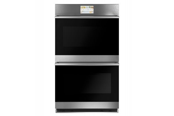"Large image of Cafe Minimal Series 30"" Platinum Built-In Double Electric Convection Wall Oven - CTD70DM2NS5"