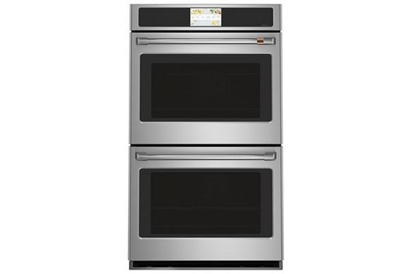 "Large image of Cafe Professional Series 30"" Stainless Steel Smart Built-In Convection Double Wall Oven - CTD90DP2NS1"