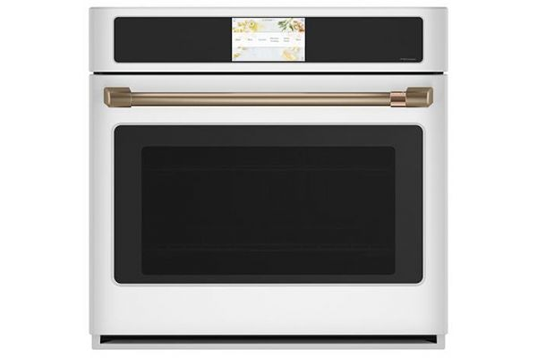 """Large image of Cafe Professional Series 30"""" Matte White Smart Built-In Convection Single Wall Oven - CTS90DP4NW2"""