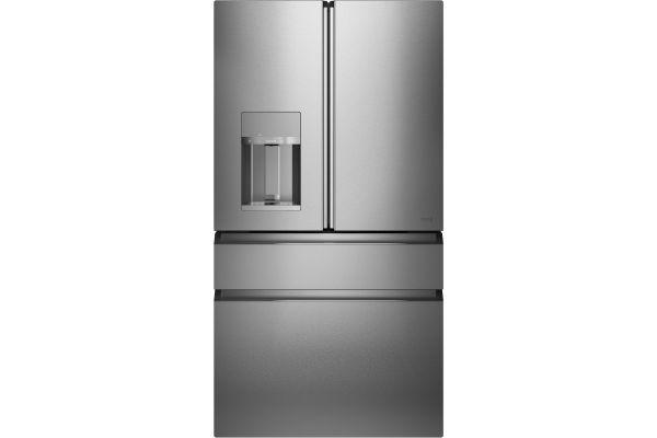 Large image of Cafe ENERGY STAR 27.8 Cu. Ft. Platinum Glass Smart 4-Door French Door Refrigerator - CVE28DM5NS5