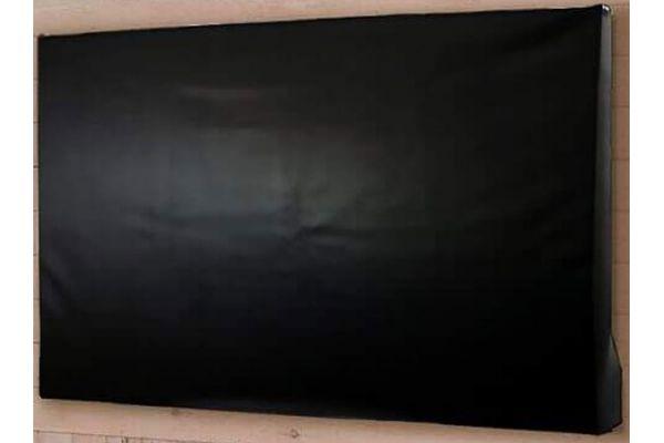 "Large image of Seura Ultra Bright 55"" Black Outdoor TV & Soundbar Protective Cover - CVRSPK3-55"