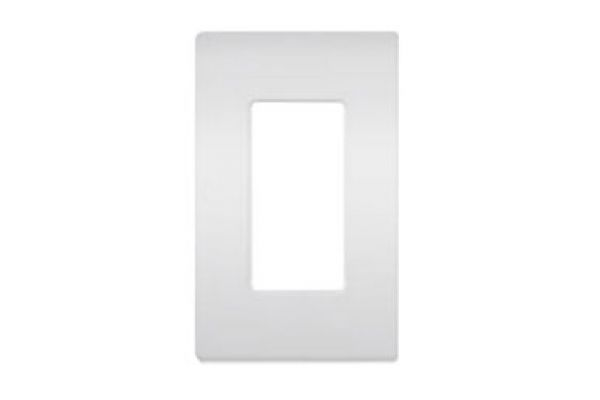 Lutron White 1 - Gang Claro & Satin Colors Wallplate - CW1WH
