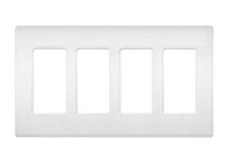 Lutron White 4 - Gang Claro & Satin Colors Wallplate  - CW4WH