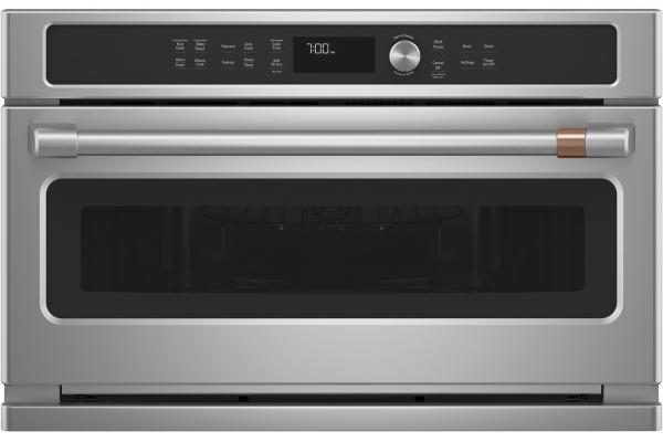 Large image of Cafe 1.7 Cu. Ft. Stainless Steel Built-In Convection Microwave Oven - CWB713P2NS1