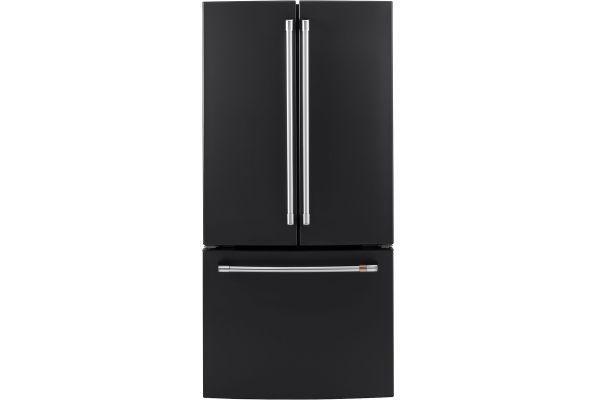 Large image of Cafe 18.6 Cu. Ft. Matte Black Counter-Depth French-Door Refrigerator - CWE19SP3ND1
