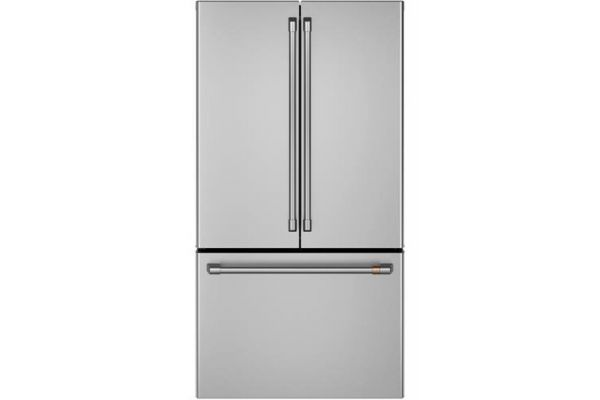 Large image of Cafe 23.1 Cu. Ft. Stainless Steel Counter-Depth French Door Refrigerator - CWE23SP2MS1