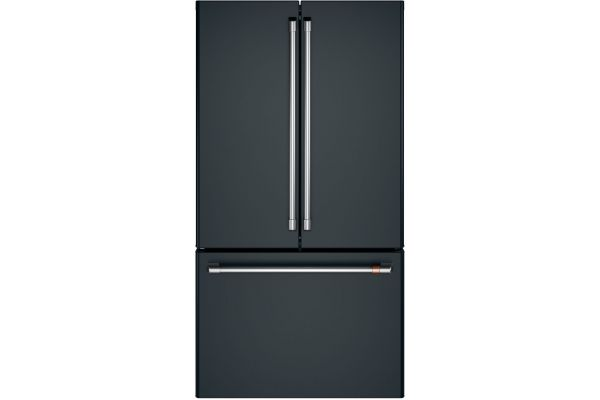 Cafe 23.1 Cu. Ft. Matte Black And Stainless Steel Counter-Depth French Door Refrigerator - CWE23SP3MD1