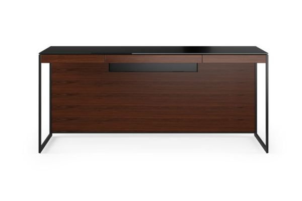 Large image of BDI Sequel 20 6101 Chocolate Walnut And Black Desk - 6101 CWL/B