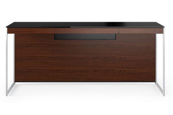 Large image of BDI Sequel 20 6101 Chocolate Walnut And Satin Nickel Desk - 6101 CWL/S