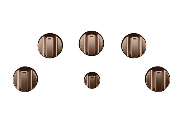 Cafe 5 Brushed Copper Electric Cooktop Knobs - CXCE1HKPMCU