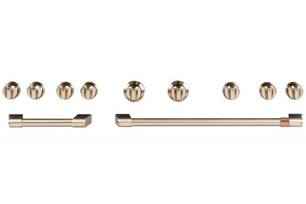 """Large image of Cafe 48"""" Brushed Bronze Handle & Knob Set For Café 48"""" - CXPR8HKPMBZ"""