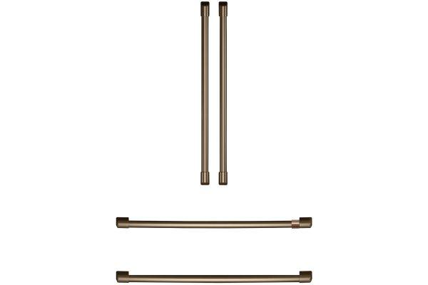 Large image of Cafe Refrigeration Brushed Bronze Handle Kit - CXQB4H4PNBZ
